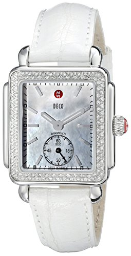 MICHELE-Womens-MWW06V000006-Deco-16-Analog-Display-Swiss-Quartz-White-Watch