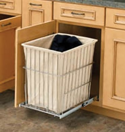 Rev A Shelf Rshrv.1520 S Cr 14-.75 In. W X 19-.38 In. H Rev-A-Shelf Wire Pull-Out Hamper - Chrome