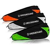 Unsquashable gepolster Squash - / Badmintontasche mit Reißverschluss für maximal 2x Squashschläger / 3x Badmintonschläger