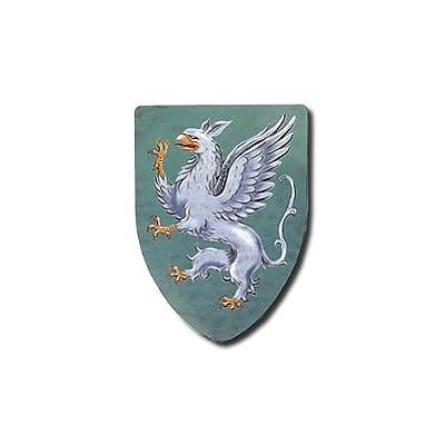 Gryphons Medieval Shield - 16 Gauge Steel Battle Ready - Grey - One Size