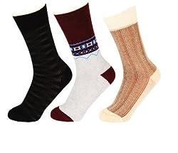 Abracadabra Men's Long Socks (Pack Of 3) (DNCS15018_Multi)