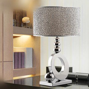Stylish minimalist luxury crystal table lamp bedroom for Living room end table lamps