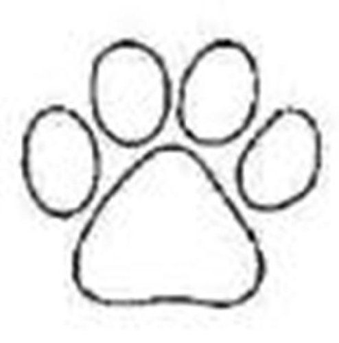 Clemson tiger paw print coloring page sketch coloring page for Tiger paw coloring page