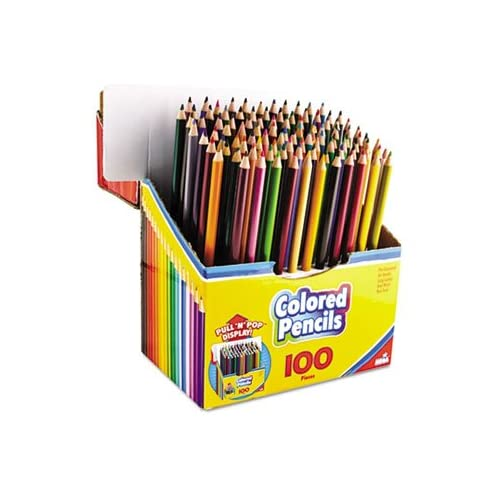 Colored Pencils, PullnPop Display Pack, 100 Colors, 100