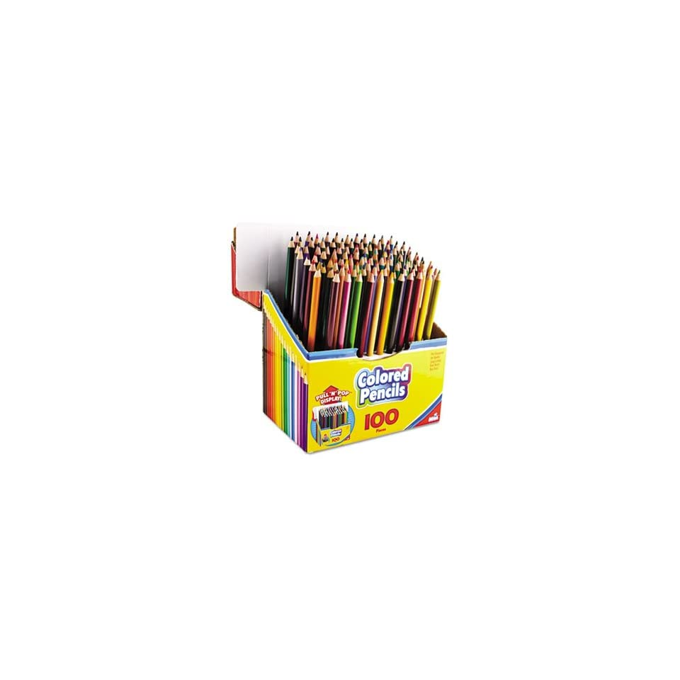 Colored Pencils, PullnPop Display Pack, 100 Colors, 100/Set