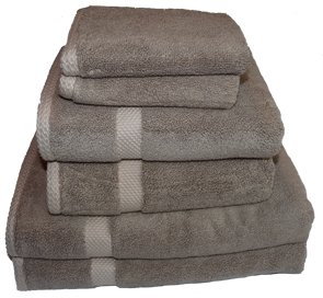 Bamboo Towels - Bamboo Bath Sheet Towel Set - Praline - 2 Bath Sheets, 2 Hand Towels, 2 Face Cloths