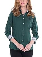 SIR RAYMOND TAILOR Women'S Linen Shirt Cleek (VERDE)