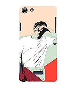 PrintVisa Man Blinded Lights 3D Hard Polycarbonate Designer Back Case Cover for Micromax Canvas Selfie 3 Q348