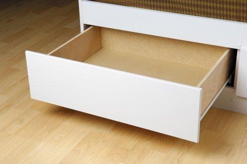Prepac Monterey White Queen Platform Storage Bed (6-drawers) prepac monterey white queen platform storage bed 6 drawers
