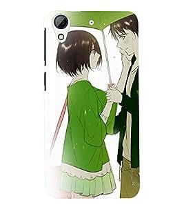 Printvisa Premium Back Cover Romantic Couple On A Rainy Day Design For HTC Desire 728g Dual::HTC Desire 728G::HTC Desire 728