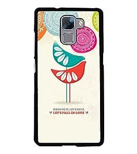 PrintVisa Plastic Multicolor Back Cover For Huawei Honor 7