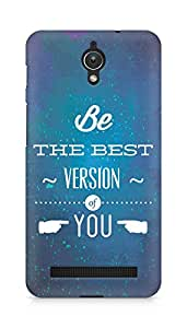 Amez Be the Best version of Yourself Back Cover For Asus Zenfone C ZC451CG