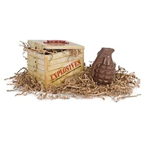 Chocolate Novelty Hand Grenade Collector Tin