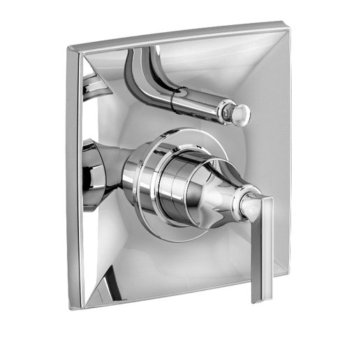 Jado 848546.150 Pyke Pressure Balance Diverter Tub and Shower Valve Trim, Platinum Nickel