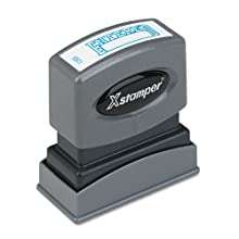 SHACHIHATA INC Entered Ink Stamp, 1/2 x 1-5/8 Inches, Blue Ink (XST1205)
