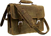 "Vagabond Traveler 13"" Classic Cowhide Leather Messenger Laptop Bag L07 by Vagabond Traveler"