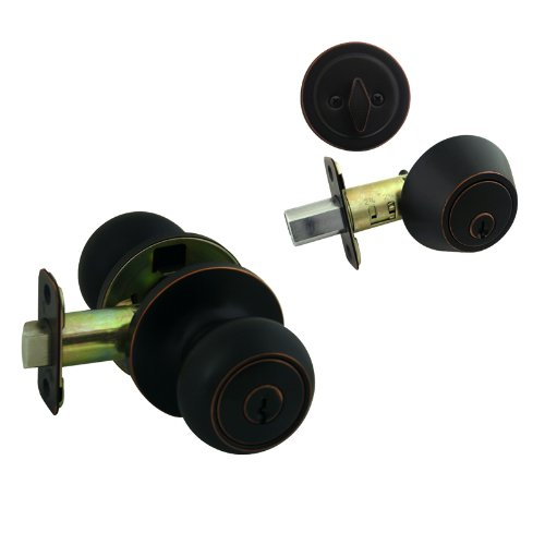Cosmas 20 Series Oil Rubbed Bronze Combo Entry Knob And
