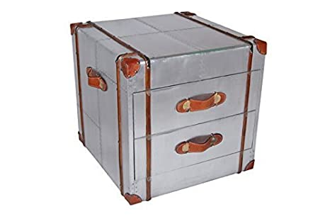 Made of Aeroplane Aluminium Chest of Drawers Recycled two