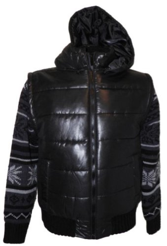 Dissident Nippon Mens Jacket with Knitwear inner in Black Size Large with detachable hood