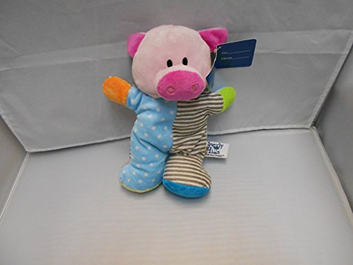 Beverly Hills Plush Beanie Baby Rattle Pig