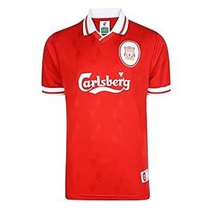 Liverpool FC Official 1996 Classic Retro Men's Football Kit Strip Shirt (Medium) from Score Draw