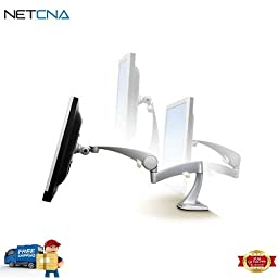 Neo-Flex LCD Arm (Silver) and Free 6 Feet Netcna HDMI Cable - By NETCNA