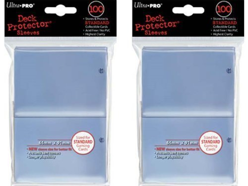 200 Ultra-Pro Clear Deck Protector Sleeves 2-Packs - Standard Magic the Gathering Size