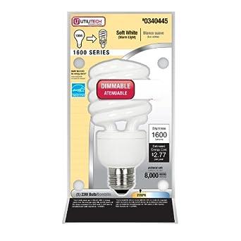 23 Watt Dimmable Compact Flurescent Bulb (~100 Watt)