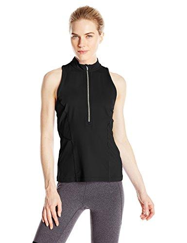 Calvin Klein Performance Women's Zip Front Scuba Tank, Black, X-Large