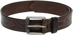 Fume Designs Men's Leather Belt - FG BR 90G_Brown_34