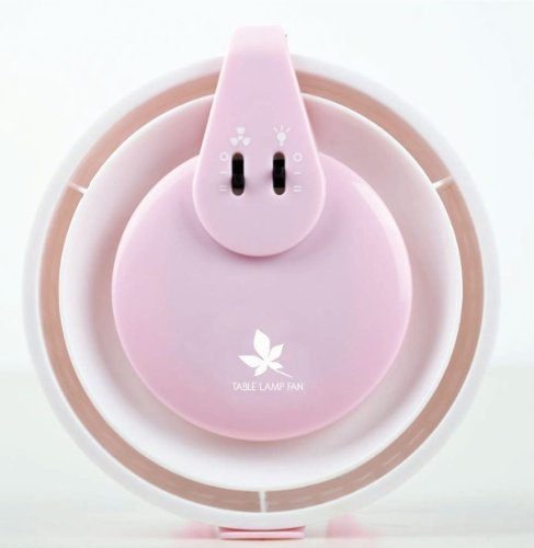 Happy Face Usb Desktop Fan+ Led Table Lamp+Make Up Mirror 3 In 1