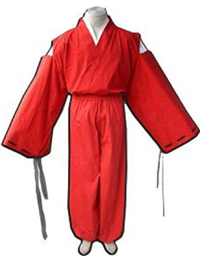 [T2C:Inuyasha Style Kimono Cosplay Costume Red Japanese Anime [L for Women]] (Pop Art Halloween Costume Tutorial)