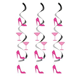 Creative Converting Dizzy Danglers Martini Glass and High Heels Hanging Party Decor