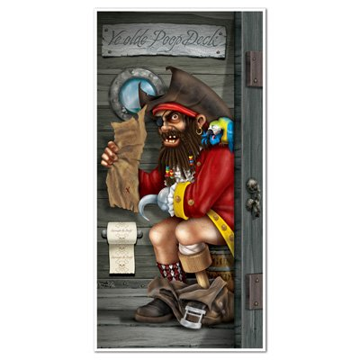 "PIRATE Restroom BATHROOM DOOR BANNER/PARTY Decoration/DECOR/TOILET/Novelty/30"" x 60"""