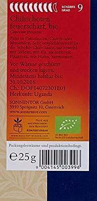 Sonnentor Chilischoten feuerscharf, 1er Pack (1 x 25 g) - Bio von Sonnentor bei Gewürze Shop