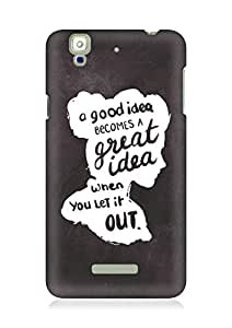 AMEZ a good idea becomes a great idea when you let it out Back Cover For YU Yureka