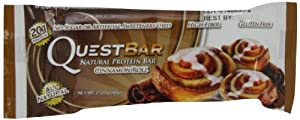 Quest Nutrition Protein Bars, Cinnamon Roll -  2.12oz  (Pack of 12)