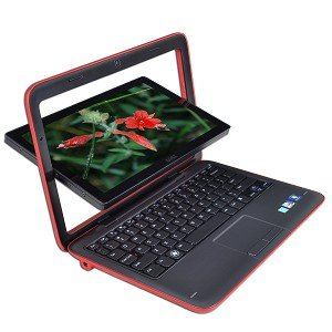 Dell Inspiron Mini Duo 10.1 Convertible Multi-Touch Laptop/Tablet (RED)
