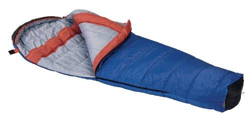 Wenzel Santa Fe 20-Degree Mummy Sleeping Bag, Blue/Orange, 33 X 84-Inch