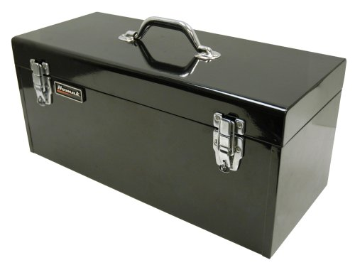 HOMAK BK00120920 20-Inch Steel Flat-Top Tool Box Black