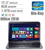 Dell Inspiron 17R 17.3″ Laptop, Intel Core i7-3632QM 2.2GHz, 8GB DDR3, 1TB HDD, 1GB Nvidia GeForce GT 630M, Blu-Ray Player, Microsoft Office Home & Student 2010 Full Version, Windows 8 thumbnail
