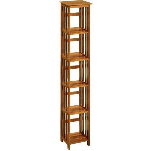 Mission style 14 w 5 shelf Bookshelf FIVE-SHELF HONEY OAKB0000CNRBJ