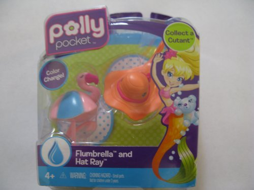 Polly Pocket Flumbrella and Hat Ray Figures - 1