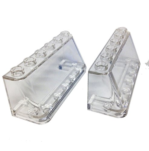 Lego Parts: Windscreen 2 x 6 x 2 (PACK of 2 - Transparent Clear) - 1