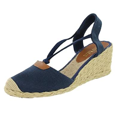 lauren by ralph lauren women 39 s cala espadrille wedge sandal navy 10 m us shoes. Black Bedroom Furniture Sets. Home Design Ideas