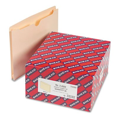 """Smead File Jackets w/Double-Ply Top and 2"""" Expansion, Ltr, 1"""