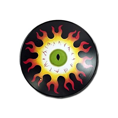 Flaming Eye Medieval Shield - Hand Painted - 16 Gauge Steel - Red - One Size