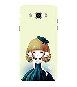 ifasho Winking Girl with green Cap Back Case Cover for Samsung Galaxy On8