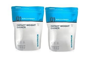Myprotein Impact Weight Gainer 2 x 2500g Beutel 2er Pack Neutral
