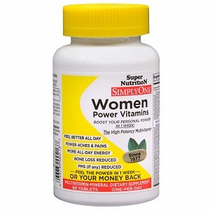 Super Nutrition Simply One Women One-Per-Day, Multivitamin/Mineral Supplement With Herbstablets 90 Ea